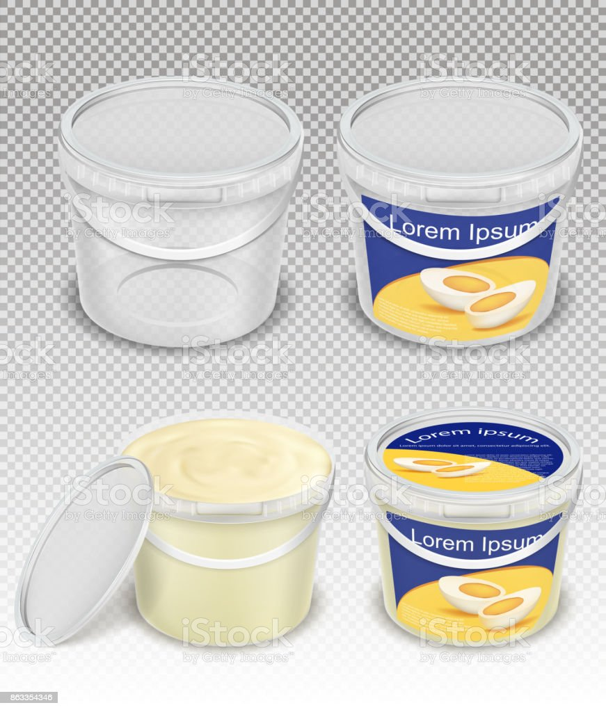 Royalty Free Yogurt Container Clip Art Vector Images