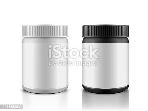 istock 3D BW Plastic Canister For Household Chemistry 1231880605