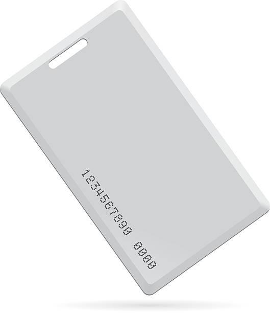 Plastic card key, vector Image Plastic card key, vector Image cardkey stock illustrations