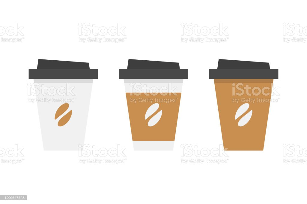 Plastic coffee cup royalty-free plastic coffee cup stock illustration - download image now