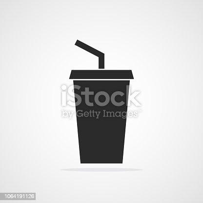 istock Plastic cup icon. Vector illustration. 1064191126