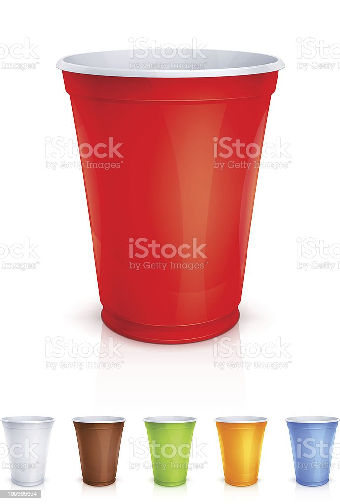 Plastic cup vector art illustration