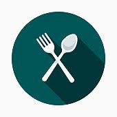 istock Plastic Cutlery Flat Design Street Food Icon 920052524