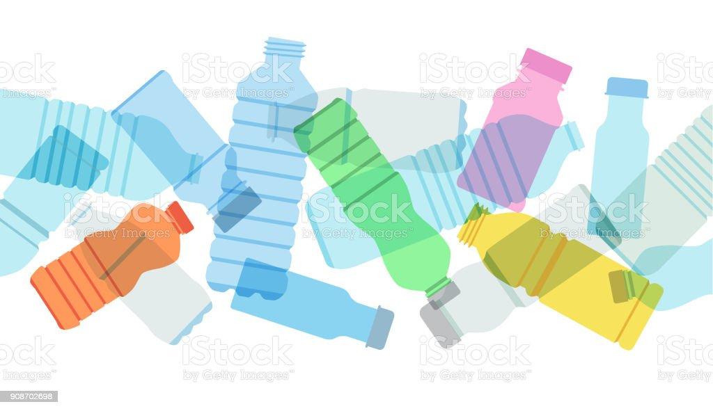 Plastic Drinks Bottles vector art illustration