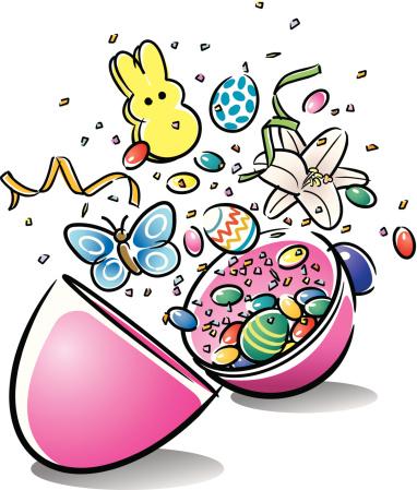 Plastic Easter Egg Open C