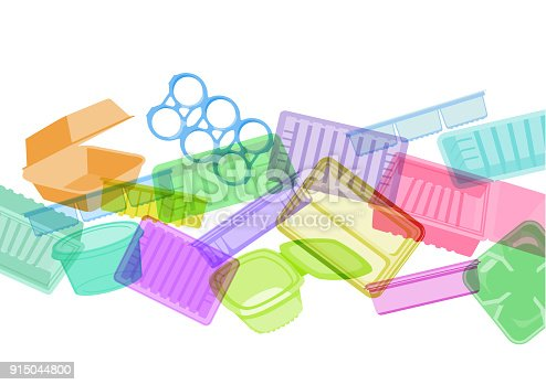 Plastic food trays - suggesting environmental issue
