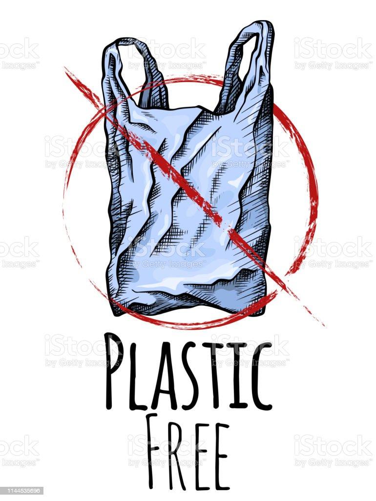 Ilustración De Libre De Plástico Dibujo De Línea Para