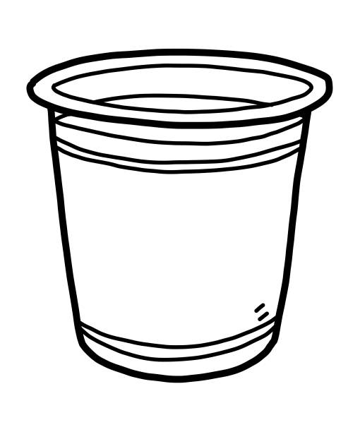 Transparent Plastic Cup Illustrations, Royalty-Free Vector