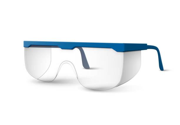 kunststofflabor gläser - schutzbrille stock-grafiken, -clipart, -cartoons und -symbole