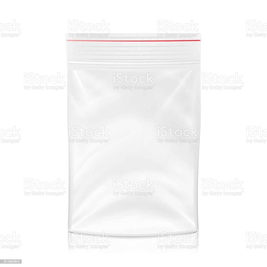 Plastic Polyethylene Pocket Bag Vector Blank. Realistic Mock Up Template Of Plastic Pocket Bag With  sc 1 st  iStock : zip storage bags  - Aquiesqueretaro.Com