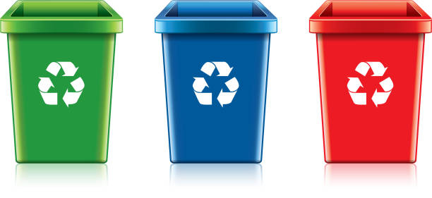 Best Recycling Bin Illustrations Royalty Free Vector