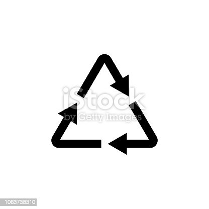 istock Plastic recycle symbol, icon. Vector illustration. EPS10. 1063738310