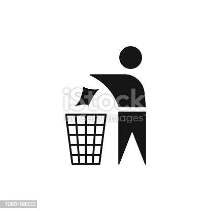istock Plastic recycle symbol, icon. Vector illustration. EPS10. 1063738322
