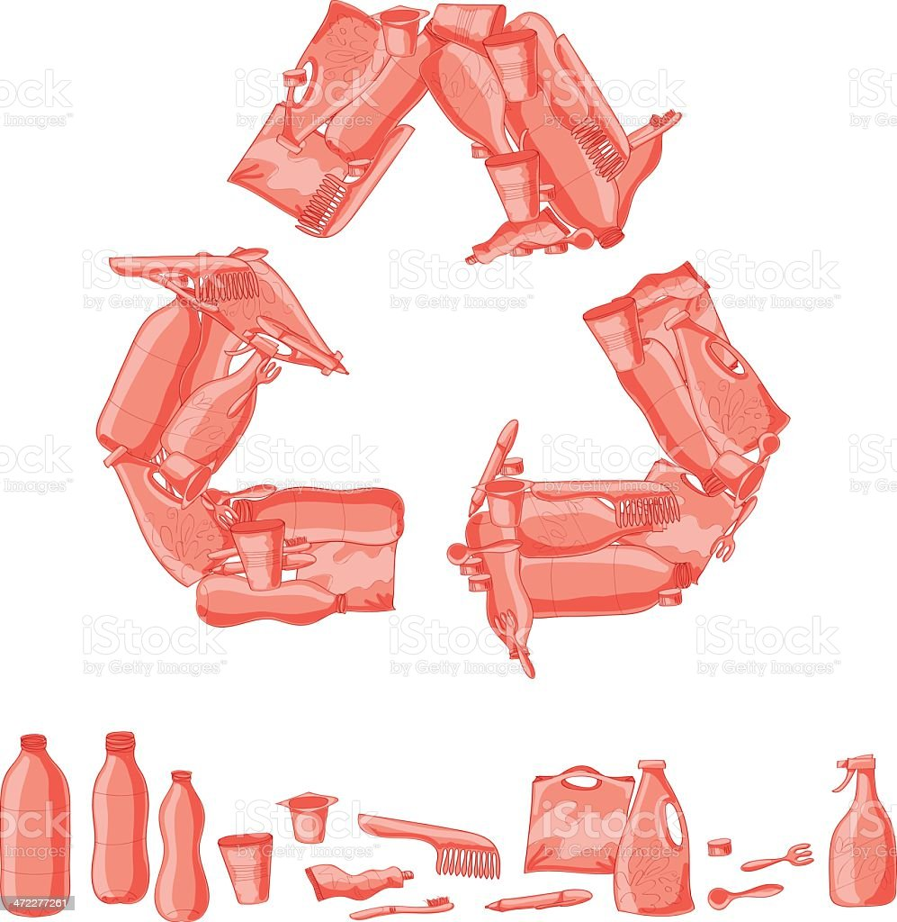 Plastic Recycle royalty-free stock vector art