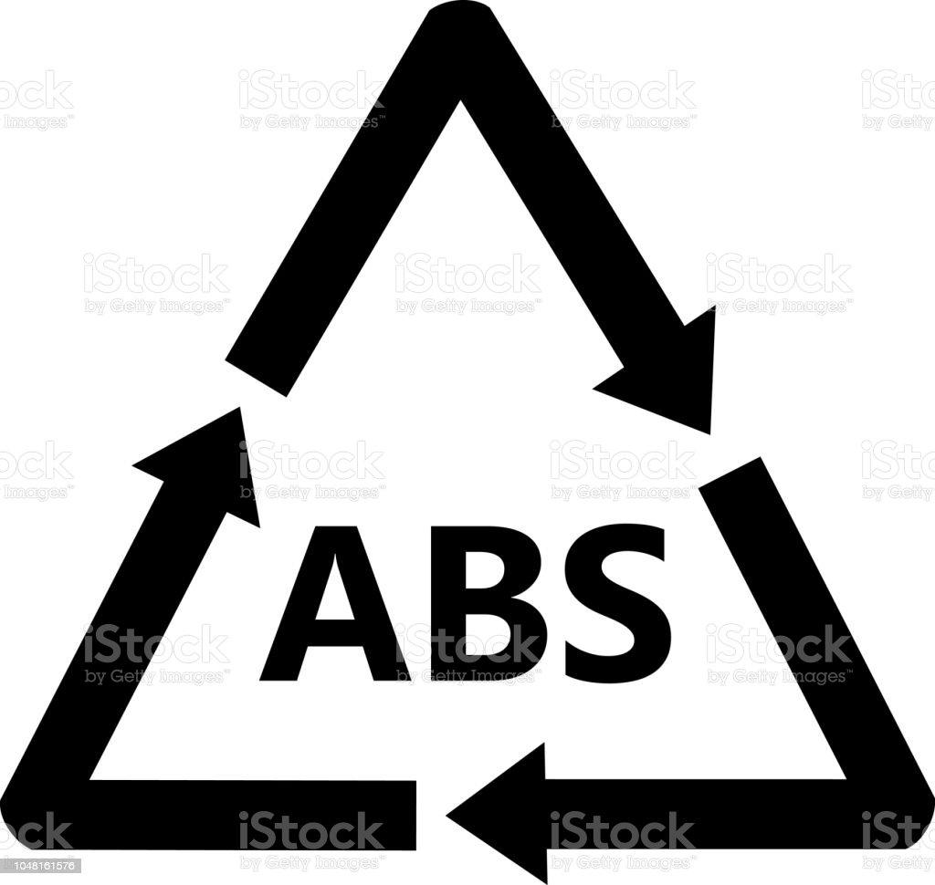Abs Plastic Recycling Sign Acrylonitrile Butadiene Styrene Stock