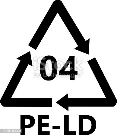 istock Plastic Recycling Sign Low-Density Polyethylene 1048160008