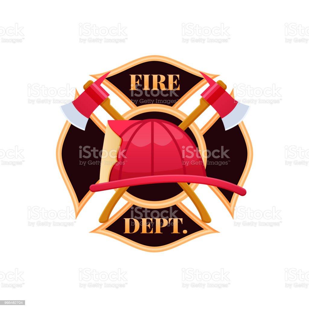 Ilustración de Casco De Plástico Rojo Fuego Lucha Contra El Fuego ... b1aeae04100b