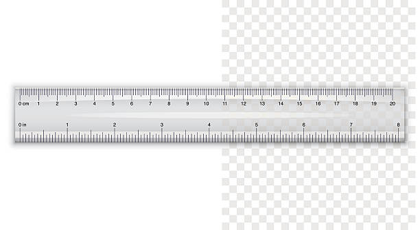 Plastic ruler vector art illustration