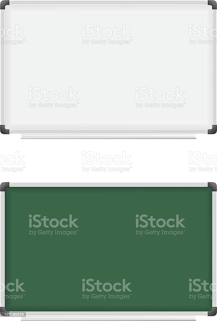 plastic school board for writing marker and chalk vector illustration royalty-free stock vector art