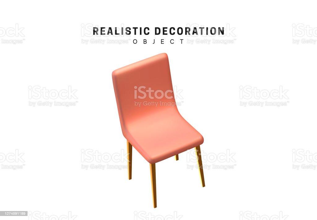Kunststoff Einfache Stuhl Design Element Realistisch Der Stuhl Ist Auf Weissem Hintergrund Isoliert Vektorillustration Stock Vektor Art Und Mehr Bilder Von Abstrakt Istock