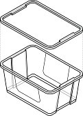 Plastic Storage Tub