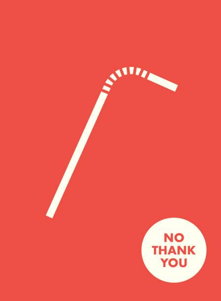 ilustrações de stock, clip art, desenhos animados e ícones de plastic straw vector icon. stop using plastic straw. save the earth banner illustration social motivation campaign. - palha