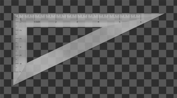 帶公制和英制單位尺規比例的塑膠三角形。 - bar 幅插畫檔、美工圖案、卡通及圖標