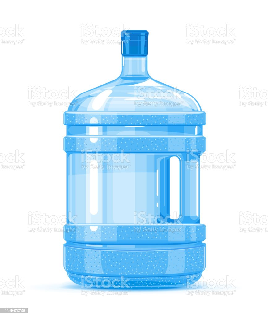 Plastic Water Bottle Container With Handle Stock Illustration - Download  Image Now - iStock
