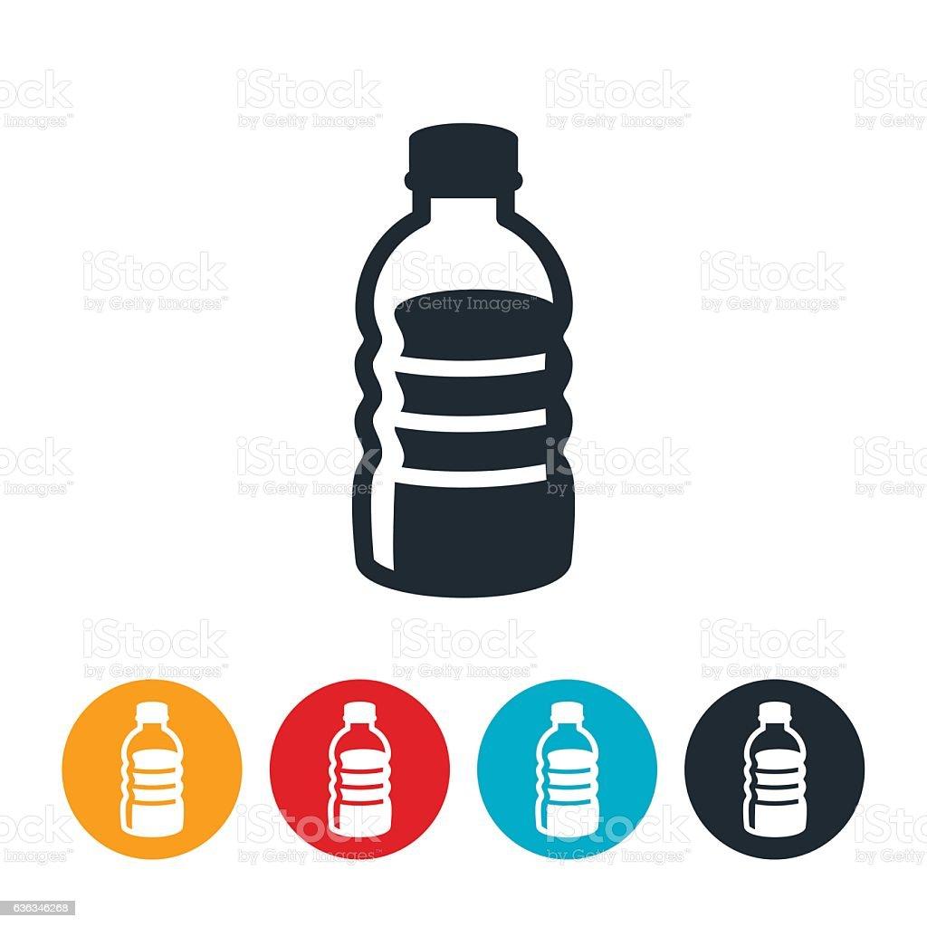 Plastic Water Bottle Icon vector art illustration