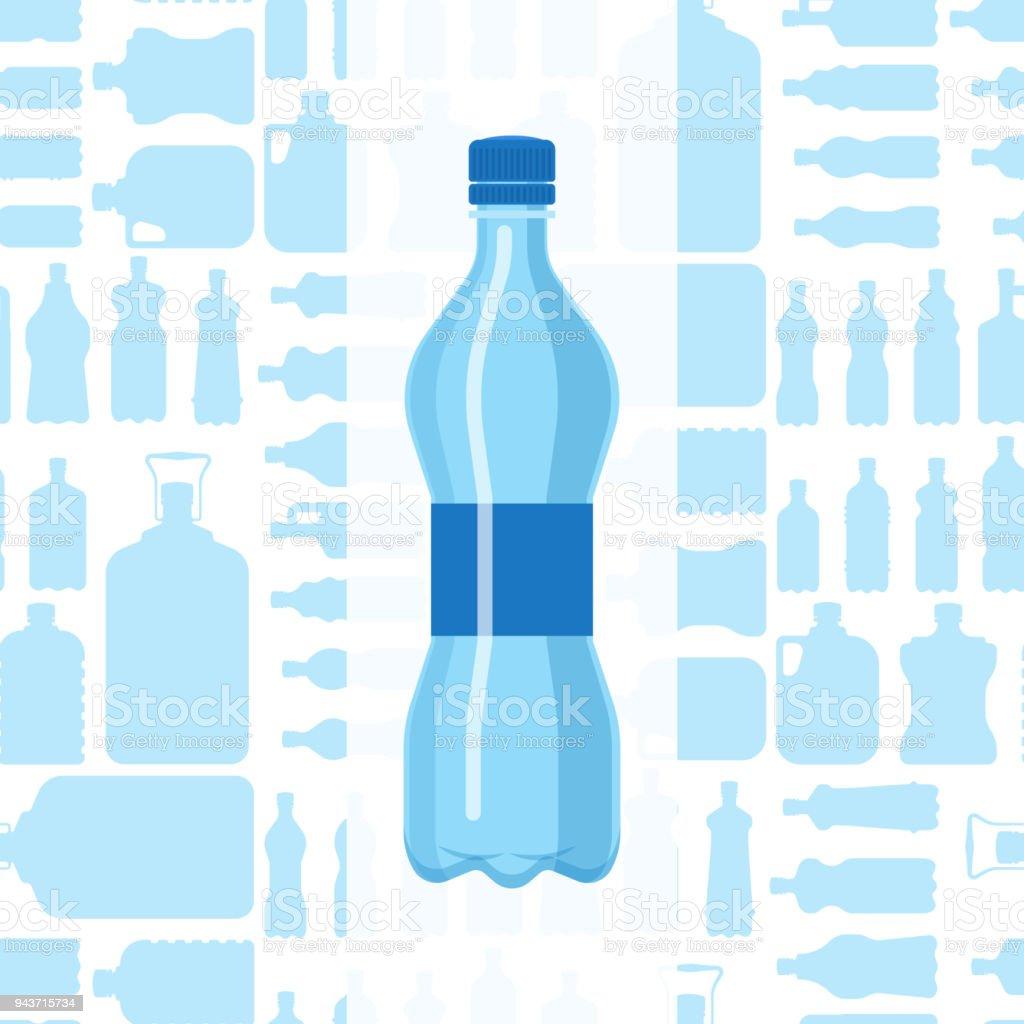 Plastic water bottle vector blank brochure nature blue clean liquid plastic water bottle vector blank brochure nature blue clean liquid aqua fluid blank template silhouette template maxwellsz