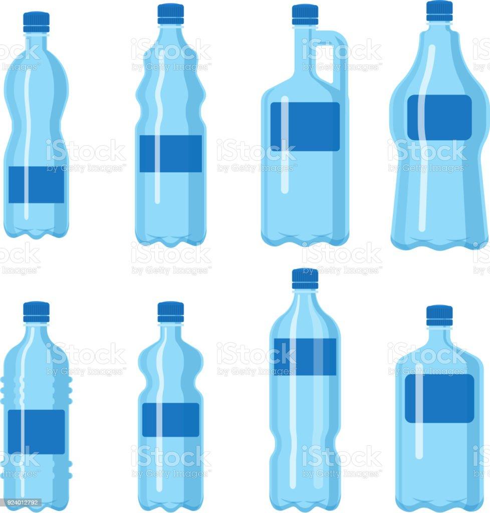 plastic water bottle vector blank nature blue clean liquid aqua fluid blank template silhouette template illustration
