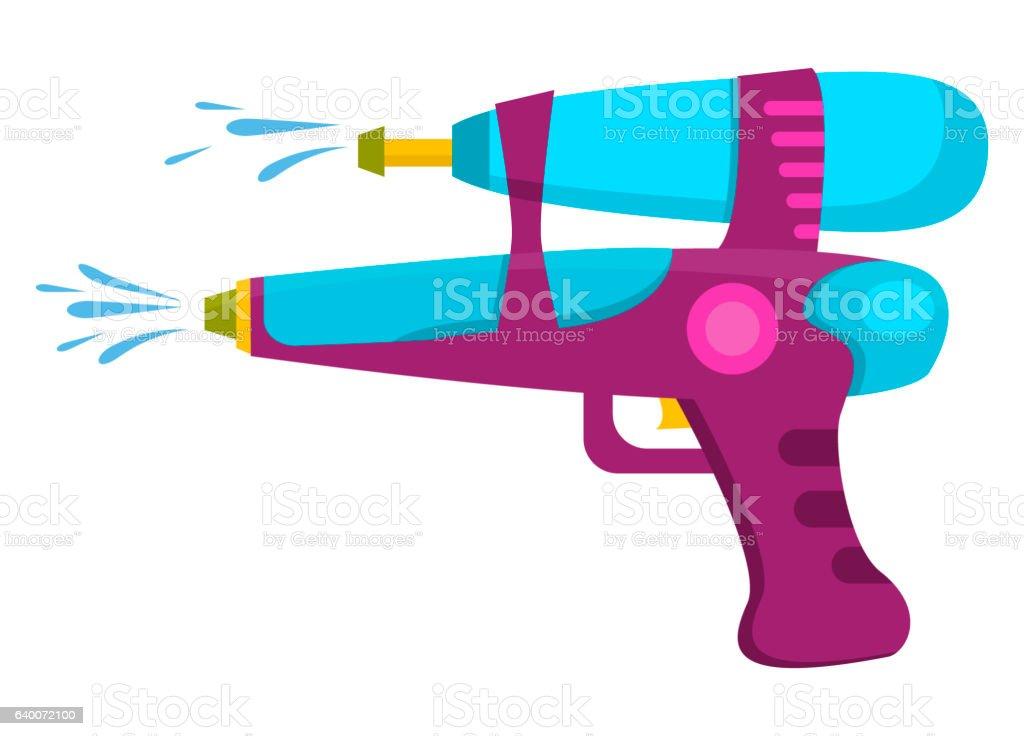 royalty free water gun clip art vector images illustrations istock rh istockphoto com clip art guns revolvers clip art gun shooting
