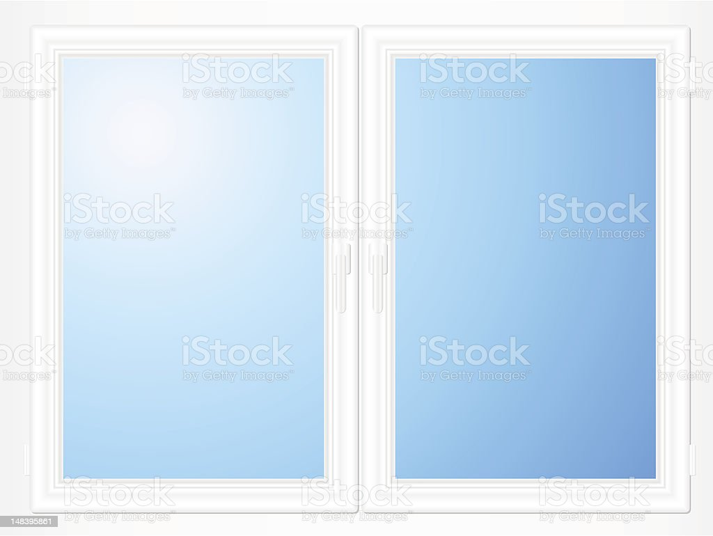Plastic window royalty-free stock vector art