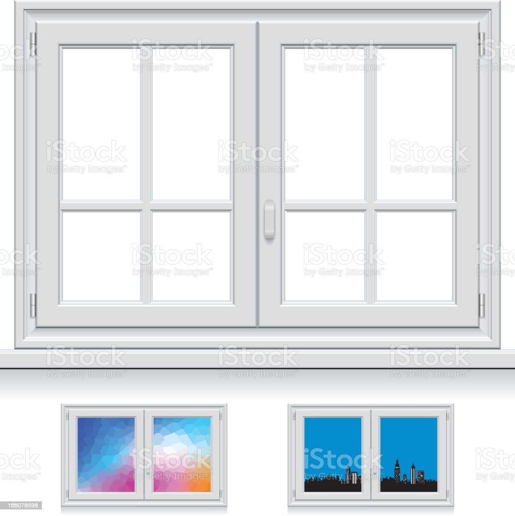 Plastic Window vector art illustration