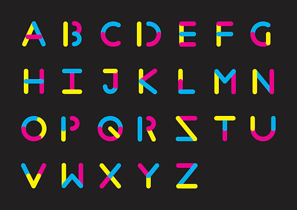 illustrazioni stock, clip art, cartoni animati e icone di tendenza di plasticine alfabeto - cmyk