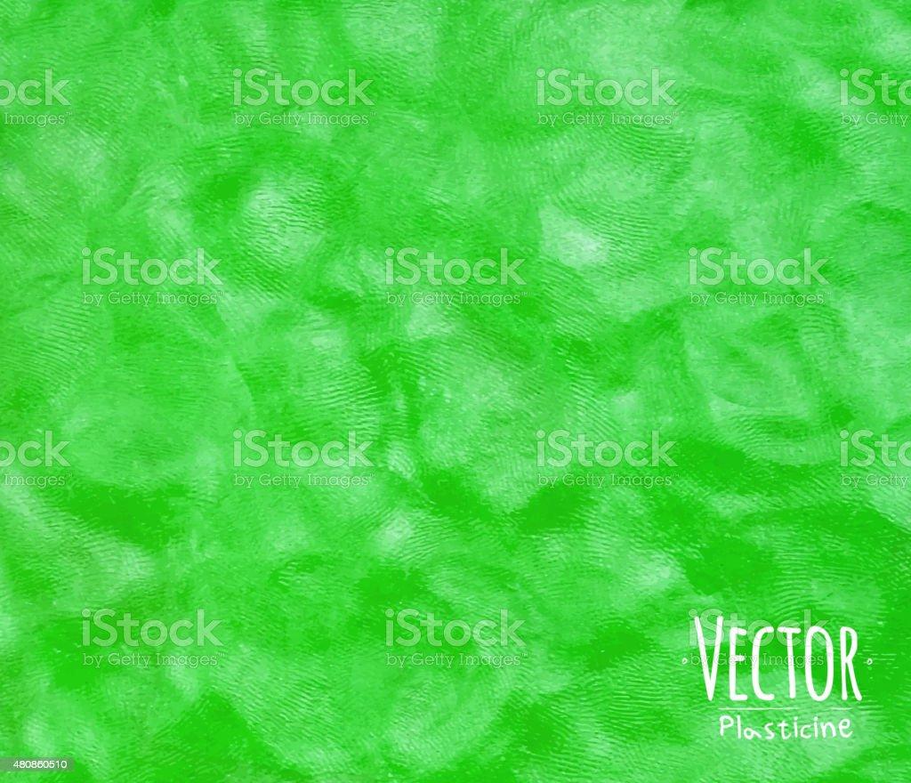 Plasticine background green vector art illustration