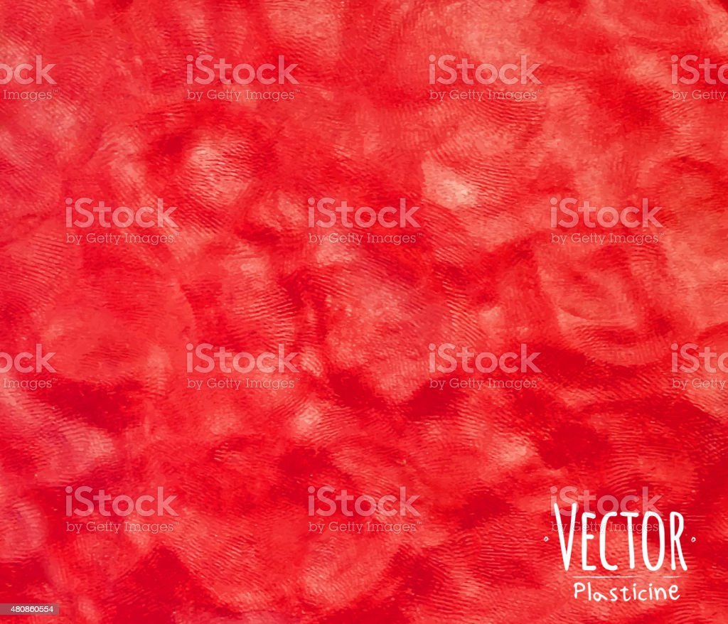 Plasticine background red vector art illustration