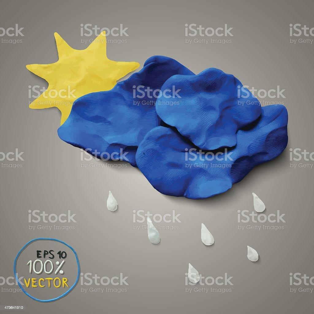 Plasticine modeling vector art illustration