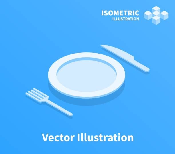 Plate fork and knife icon. Vector illustration. Plate fork and knife icon. Vector illustration. cooking clipart stock illustrations