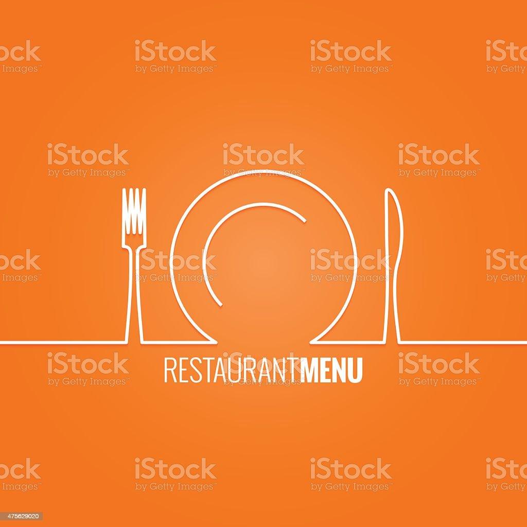 plate fork knife design background vector art illustration