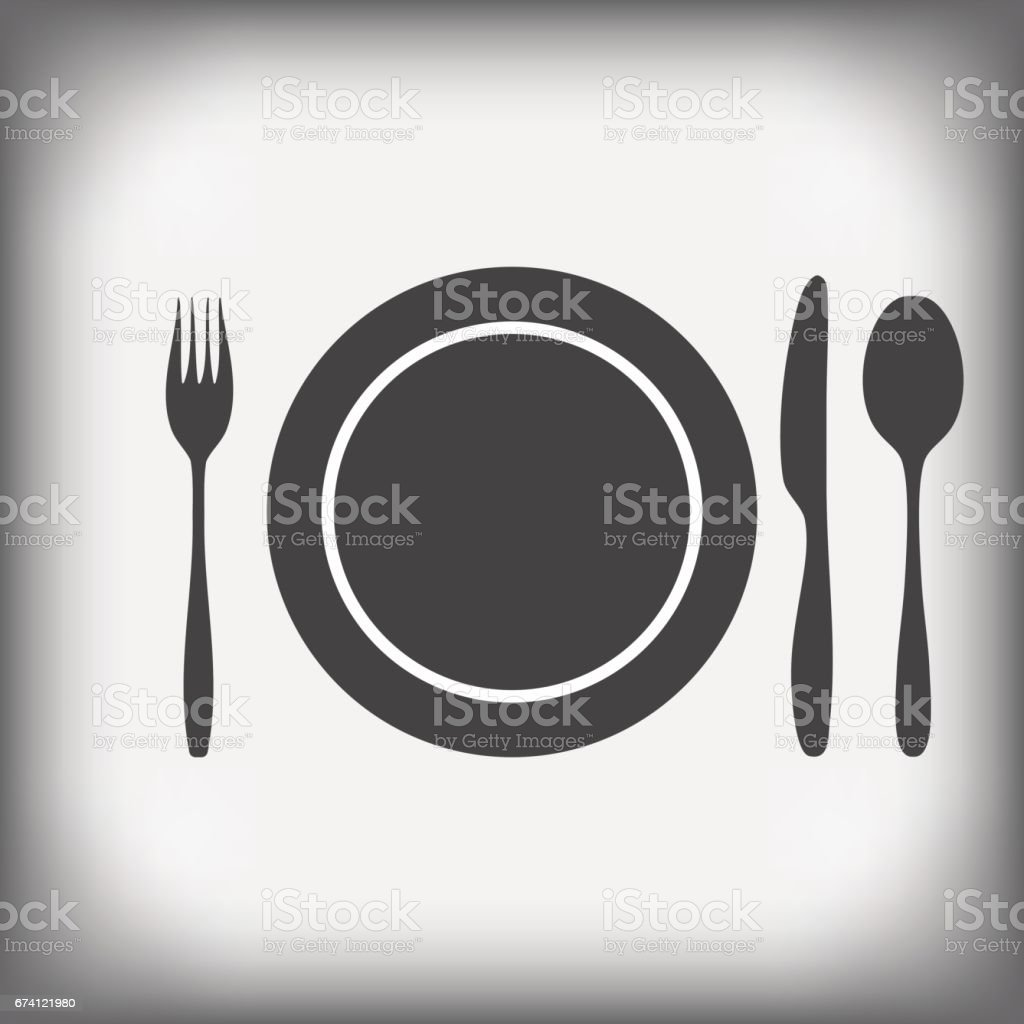 plate, knife, fork, spoon royalty-free plate knife fork spoon stock vector art & more images of 1990-1999