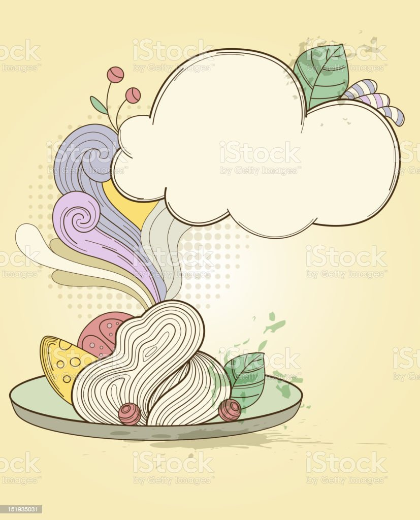 Plate of pasta royalty-free plate of pasta stock vector art & more images of 1940-1949