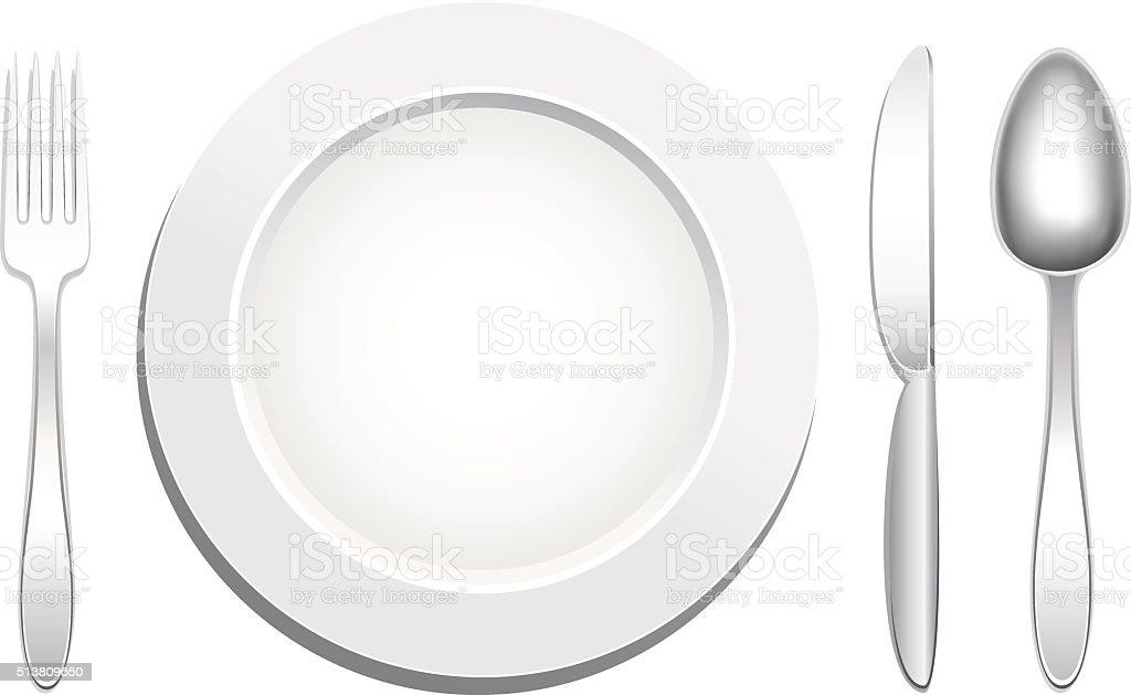 Plate Spoon Fork Knife Stock Vector Art 513809650 Istock