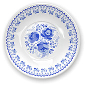 Plate with ornament