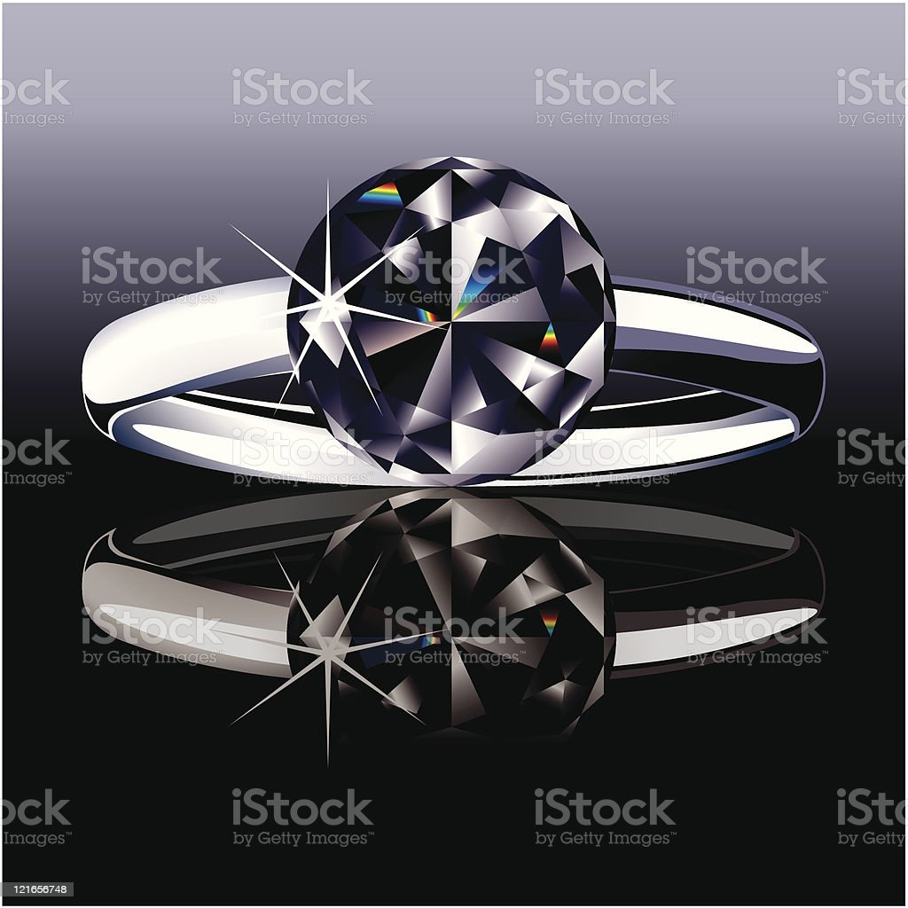 Platinum ring with a black diamond royalty-free platinum ring with a black diamond stock vector art & more images of abstract