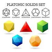 Platonic 3d shapes