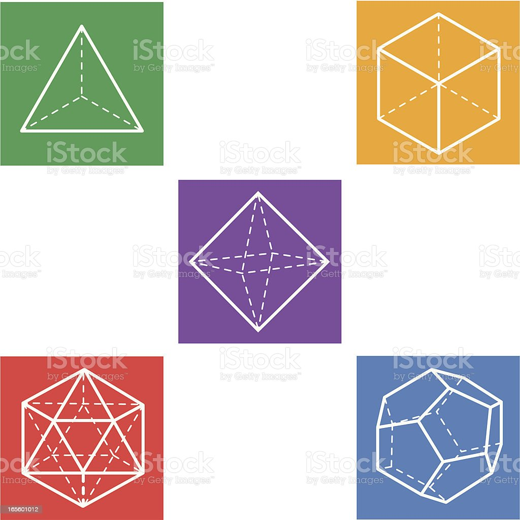 platonic solids royalty-free stock vector art