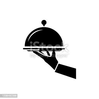 Platter Vector Icon Glyph  style illustration.