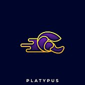 Platypus Illustration Vector Template. Suitable For Creative Industry, Multimedia, Entertainment, Educations, Shop, And Any Related Business.
