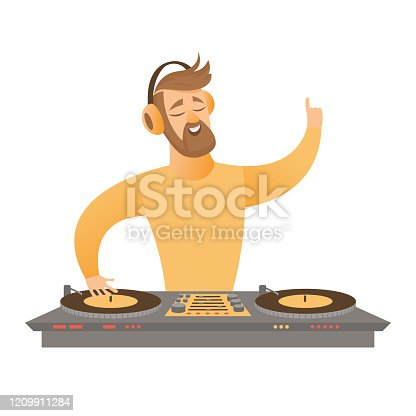 istock DJ play and mixing music. 1209911284